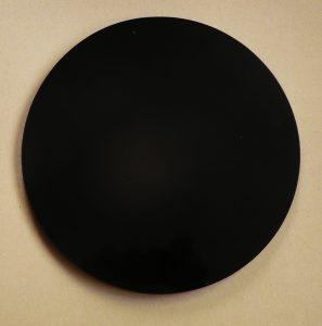 Round black obsidian scrying mirror