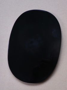 Oval Oval black obsidian scrying mirror