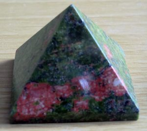 Unakite Crystal Pyramid