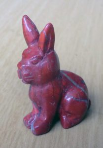 Red Polished Crystal Rabbit