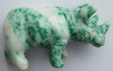 Green and White Rhino