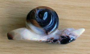 Banded Carved Crystal Snail