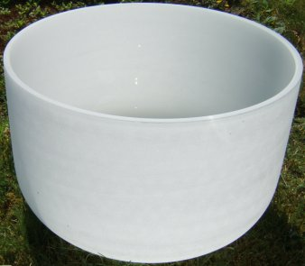Sixteen Inch Frosted Quartz Crystal Singing Bowls